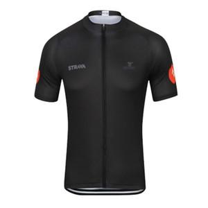 Nuevo equipo masculino de Strava Ropa de ciclismo MTB Bike tops carretera Ropa de bicicleta verano secado rápido Uniforme deportivo Ciclismo Jersey Y032906