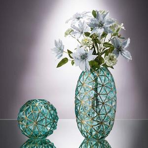 Minimalista vaso de vidro Decoração hidropônico Flores Flor seco Sala Decor Geometria criativa simples Concise Ornamentos