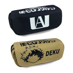 My Hero Academia Gift Student Pencil Bag Case Deku Canvas multi functional storage School Stationery opp bag