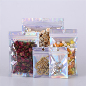 Laser Aluminum Foil Bags Zip Lock Clear Mylar Zipper Packaging Pouch For Mobile Phone Case USB Cable U Disk Jewelry Anything Retail Packing