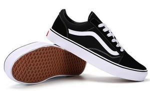 Ücretsiz kargo 2020 sıcak satmak Kadın Casual Düz Ayakkabı Classics Old Skool Tuval Erkekler Kadınlar Günlük Ayakkabılar Klasik Siyah Beyaz Kaykay Ayakkabı