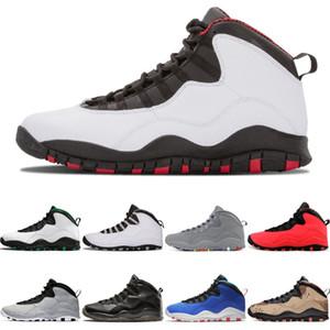 Top-Qualität 10 10s Jumpman Basketball-Schuhe Seattle GS Fusion Red Chicago Cement Ich bin wieder stahlgrau Menssportturnschuhe Trainer 7-13