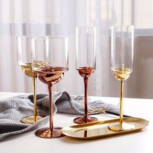 Creativo del calice del vino, tazza del vino di stile di placcatura europeo di vetro di cristallo di modo di struttura del metallo