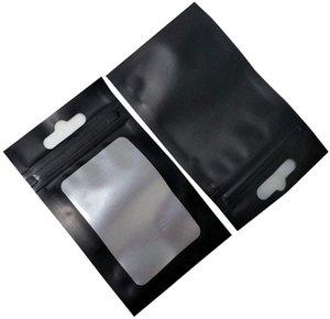 100 Pack Matte Clear Window Zipper Lock Mylar Bags Resealable for Zip Food Storage Lock Heat Seal Pouch Plastic Aluminum Foil Packet