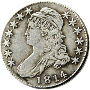 US 1814 banhado tampado meio dólar de prata de cópia morre artesanato moedas de metal fabricação de fábrica Preço