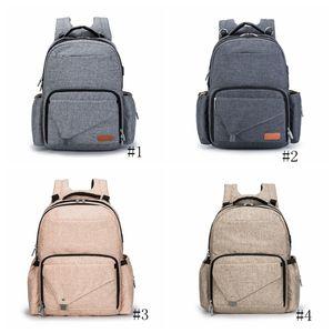 Mommy Backpack sacos das fraldas Mãe Maternidade Diaper Mochilas USB Grande Volume de Viagem Exterior de enfermagem sacos impermeáveis Fralda Bag GGA2823