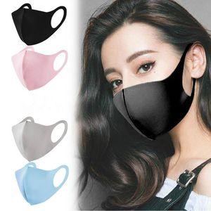 أقنعة الجملة قناع قابلة لإعادة الاستخدام الجليد أقنعة القطن الحرير قابل للغسل الوجه الأسود الفم الغلاف PM2.5 قناع أدوات التنفس الغبار المضادة للبكتيريا