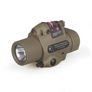 Al aire libre tácticas ventilador grande ejército láser rojo blanco pista linterna luz linterna campo CS M6 linterna ligera fuerte