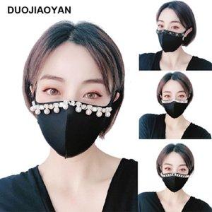 Moda Parlak kristal Maskesi PM2.5 Yüz Ağız Yeniden kullanılabilir Pamuk Koruma Masker Siyah Anti-Toz Maskesi Anti-Kirlilik maskeleri maske