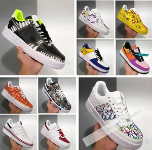 Men Running Shoes 1S 1 L .0w 07 Lx What The La Vandalized Joker Casual Shoes Sport Sneakers Mens Womens Trainers Sneaker 36-45