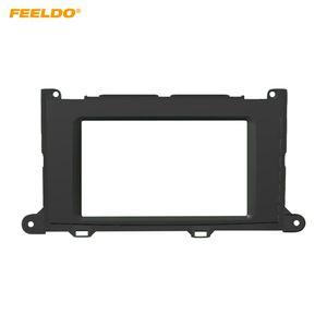 FEELDO Car Stereo DVD Refitting Fascia Frame Adaptor For Toyota Sienna 2010-2014 Radio 2DIN Dash Panel Frame Trim Kit #4889
