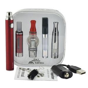 Ecig 4 in 1 starter kit Evod 510 battery vaporizer tank vape pen dry herb vaporizer dab pen kit wax oil herbal vaporizer