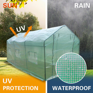 Bahçe 15x7x7inch Ağır Hizmet Sera Tesisi Bahçecilik Spiked Sera Çadır Windproof Yağmur suyuna dayanıklı Yeşil Renk Açık Çadır