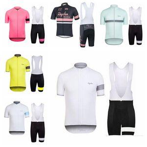 2019 Cycling Short RAPHA team Sleeves jersey bib shorts sets Men road bike clothing breathable short sleeve riding suit H070108