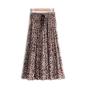Женская Leopard Платье Мода Женского Leopard Printed Юбка Beach Vacation Новый Brief вскользь дама шифон платье Азиатского размера S-L