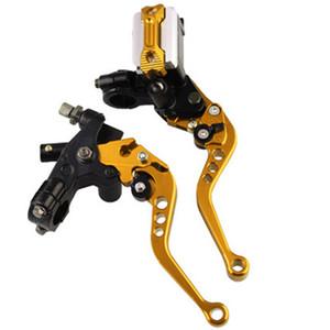 Moto Handle Hydraulic Cilindro maestro universal de fluido de frenos de la motocicleta de aleación de aluminio de la bomba ajustable palancas de embrague