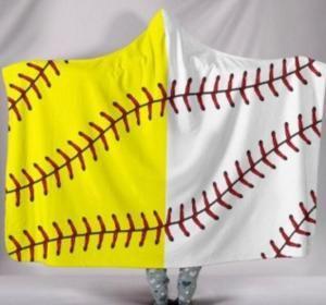 Бейсбол футбол одеяло софтбол с капюшоном одеяла 200*150 см спортивная тема с капюшоном Мыс футбол купание полотенце пеленание бросить одеяла GGA1508