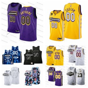 personalizadolos AngelesLakersHombres Kid Número Nombre 23 Santiago 3 Davis 19/20CiudadEdición jerseys del baloncesto