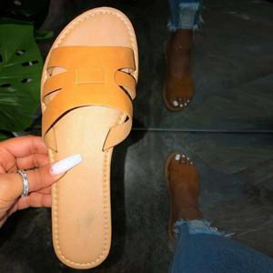 Estate delle donne comode pantofole romano Open Toe sandali degli appartamenti casuali della spiaggia scarpe slip-on Oversized piatto Pantofole # 30