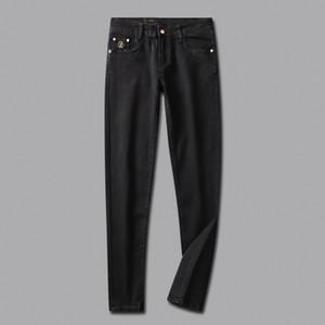 NUOVO STILE DI LUSSO ESTATE Moda Uomo jeans stretch TESSUTO jeans diritti RICICLATA semplice acqua GENEROSO stile casual TAGLIA 29-38