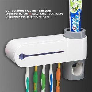 220V Antibacteria 2 в 1 УФ свет ультрафиолетовая зубная щетка Автоматический дозатор зубной пасты стерилизатор держатель зубной щетки очиститель полости рта