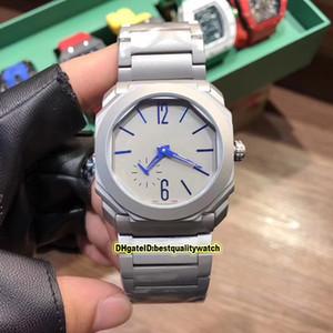 Luxry High Quality Octo Finissimo BGO40C14TTXTAUTO / L 102945 Grau Dial Stahl Fall Miyota Automatik Herren-Uhr-Edelstahl-Bügel-Sport-Uhren