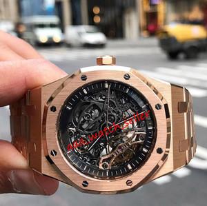 4 stili mens orologi di lusso Royal Oak 15407 15407ST 15407OR 15400 squelette tourbillon movimento automatico in cristallo zaffiro SS316L orologio da polso