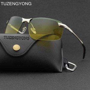 TUZENGYONG aleación hombres que conducían los vidrios de sol de día y gafas de visión nocturna T343