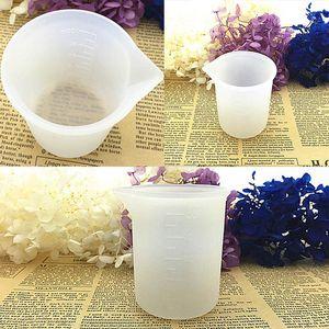 Jabón Moldes 1Pcs jabón del molde de joyería taza de medición Resina de silicona 100ML pegamento DIY hechos a mano Herramientas Crystal Moldes NO lavado