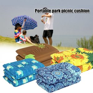 Anti Dirty Outdoor Portable Folding Seat Pad Floral Print Camping Mat Park Picnic Moisture Proof Beach Soft Hiking Travel