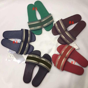 2020 fashion ladies slippers ladies slippers embroidered beach sandals summer outdoor shoes luxury slippers sandals