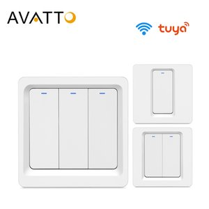 AVATTO Tuya EU Wifi Switch with Physical Button, smart home automation Wall Light Switch 1 2 3 Gang Work with Alexa,Google Home