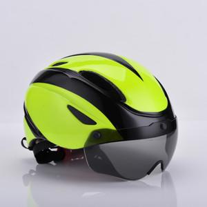 جديد تصميم شفط المغناطيسي نظارات الدراجات خوذة متكاملة صب دراجة خوذة ركوب الدراجة الجبلية خوذة ركوب المعدات