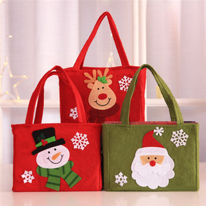 Chrismas Bag Kids Gift Candy Bags Pouch Mini Handbag Christmas Decoration for Home Party New Year Decoration Santa Claus gift