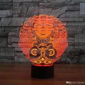 Double Happiness 3D Illusion Nachtlicht-Touch 7 Farbwechsel Home Decor Baby-Jungen-LED-Lampe-Kind-Geschenk Weihnachtsweihnachtsgeschenke