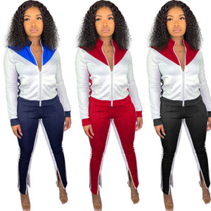 Mulheres com painéis 2 set peça plus size queda roupas de inverno casaco de lã calças sportswear jaqueta leggings outfits bodysuits outerwear moda 1999