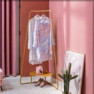 Floor clothes rack girl heart bedroom indoor corner storage rack household clothes rack modern wall corner hanger northern Europe