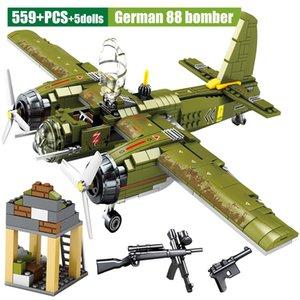 Sembo Askeri Serisi Fighter Uçak Model Yapı Taşları WW2 Harç İl Emniyet Helikopter Tuğlalar Eğitim Çocuk Oyuncakları