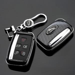 أنماط جاكوار XF XFL XFR XJ XJ6 XK S F نوع السيارة ABS البلاستيك من ألياف الكربون واقية مفتاح شل غطاء مع جاكوار شعار المفاتيح