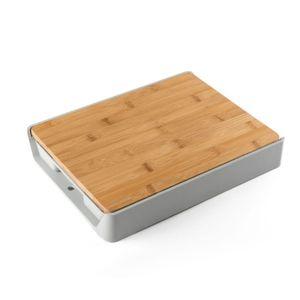 Инновационная бамбуковая разделочная доска с выдвижным ящиком многофункциональная выдвижная разделочная доска со съемным пластиковым лотком