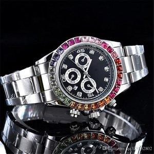Reloj Brand New Designer Mens Full Date Hombre 자동 골드 데이 시계 럭셔리 시계 남성 패션 손목 시계 블랙 다이아몬드 태그 쿼츠 Phig