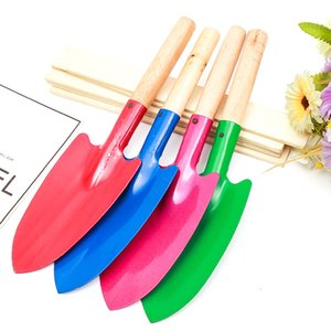 Colorful Mini Iron Garden Shovel Small Gardening Shovel Kid Plant Spade with Wooden Handle Home Gardening Tools