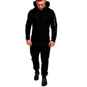 Mens Designer Magro Treino Mens Fashion Casual 2pcs Suit Casual Homme Roupa Desportiva