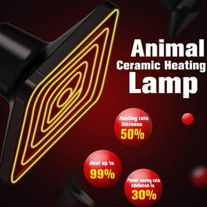 세라믹 가열 램프 거북 도마뱀 파충류 전용 파충류 램프 사육 상자 원적외선 세라믹 가열 램프 사각 원형 미니