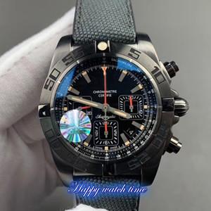 GF Top versión MB0111C3.BE35.253S.M20DSA.2 Negro Fecha Caja de Acero Negro Dial 7750 del reloj para hombre relojes de diseño Negro correa de caucho