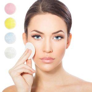 Bambú maquillaje removedor de algodón Soft Pad Cuidado de la piel facial reutilizable lavable Toallitas de limpieza profunda Cosméticos Ronda de herramienta del maquillaje removedor del cojín HHA-346