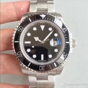 2017 Oceano New Style 43 milímetros 126600 Assista marcas 50º aniversário do Sea-Dweller Black Dial Data 4000 pés = 1220m de super Mergulho relógio dos homens