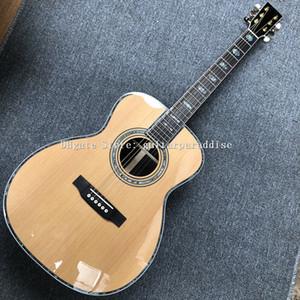 Пользовательские гитара, 39 «OM баррель Сплошная красная сосна сверху, палисандр Накладка и мост, палисандр стороны и обратно, Acoustic Guitarra