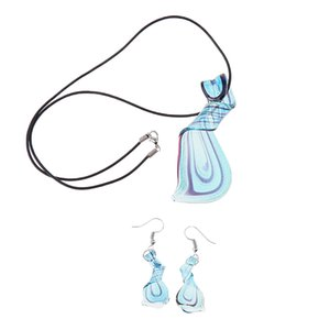 Women Girl Heart Shaped Charm Turquoise Dangle Drop Crystal Earrings Hot