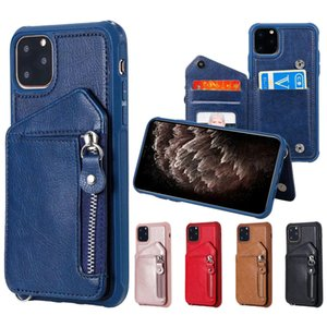 Mix venda 30 Pcs Duplo Buckle Zipper PU Couro Telefone para iPhone 11 Pro X XR XS Max 6 7 8 e Samsung Nota 10 Pro 9 8 S8 S9 S10 Além disso,